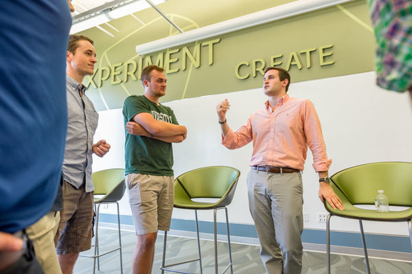 Naughton Fellows in the ESTEEM Program at the University of Notre Dame's Innovation Park in South Bend, Indiana, USA